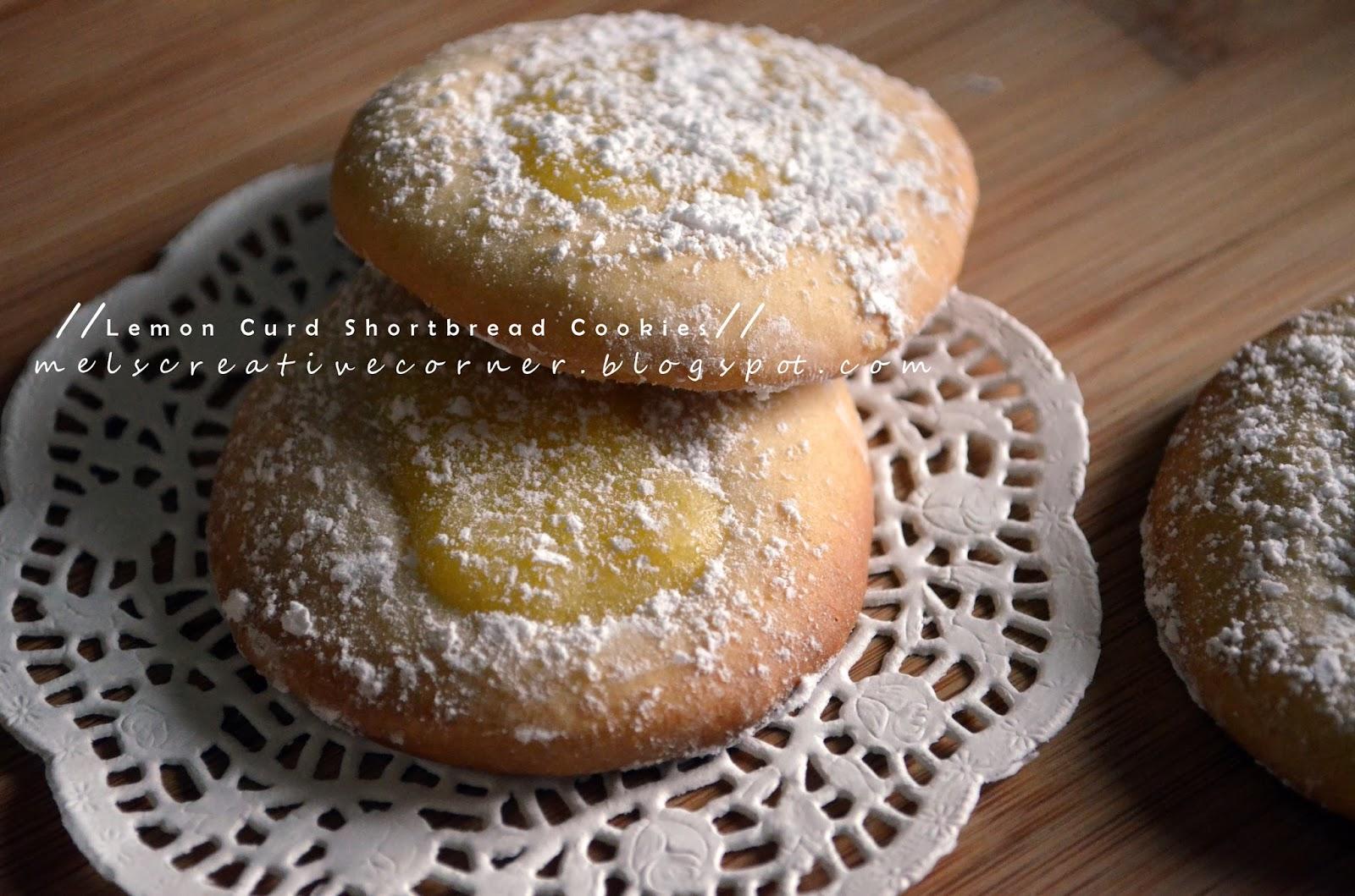 Mel's Creative Corner: Lemon Curd Shortbread Cookies!