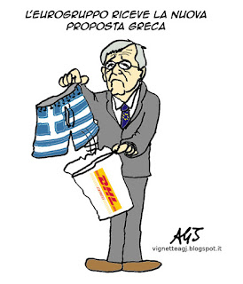grecia, tsipras, crisi greca, eurogruppo, satira, vignetta