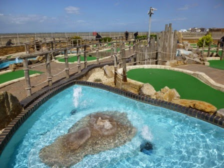 Strokes Adventure Golf course - an 18-hole Minigolf course on Westbrook Promenade in Margate Kent