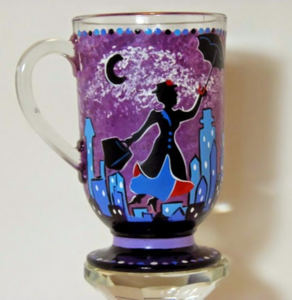 Mary Poppins Painted Coffee mug via Kudos Kitchen By Renee