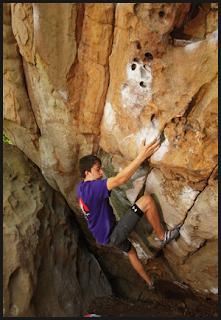 Patrick Murphy climbing Red House
