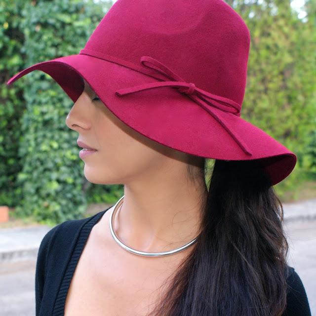 burgundy, hat, lacaprichossa, streetsstyle, fashion blogger, roberto verino