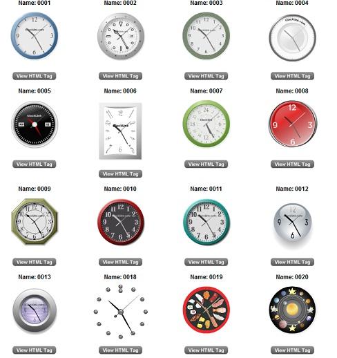 gadget jam analog untuk blog