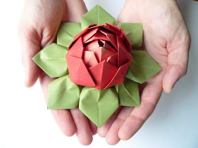 Lotus Flower Origami Walpaper