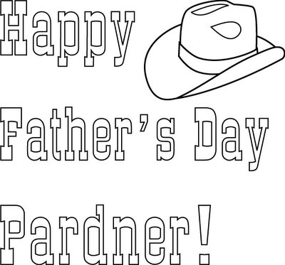 Happy Father's Day Christian Coloring Page