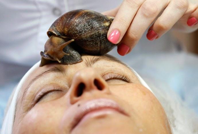 facial con caracoles
