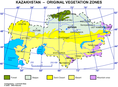Kazakhstan Map Political Regional