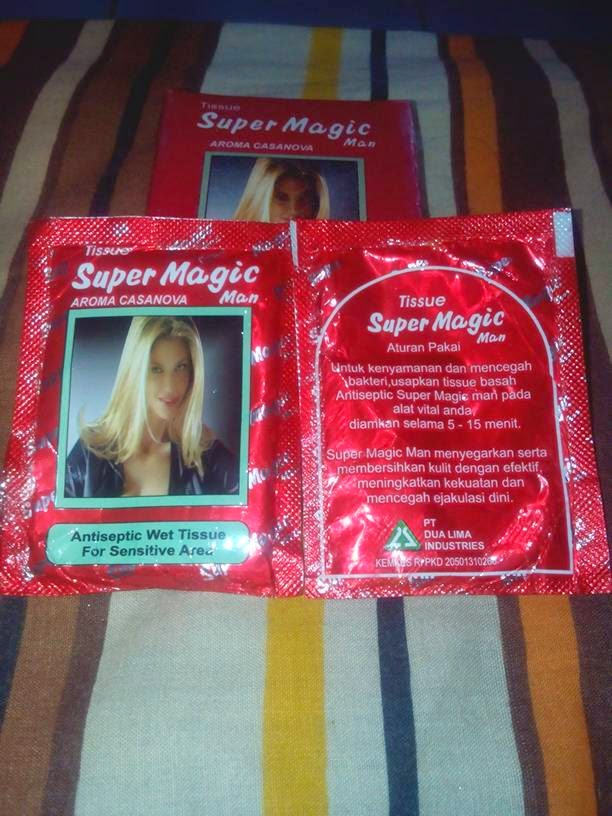 Tissue Super Magic Man Kemasan Merah