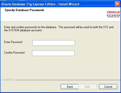 oracle 11g express edition free  for windows