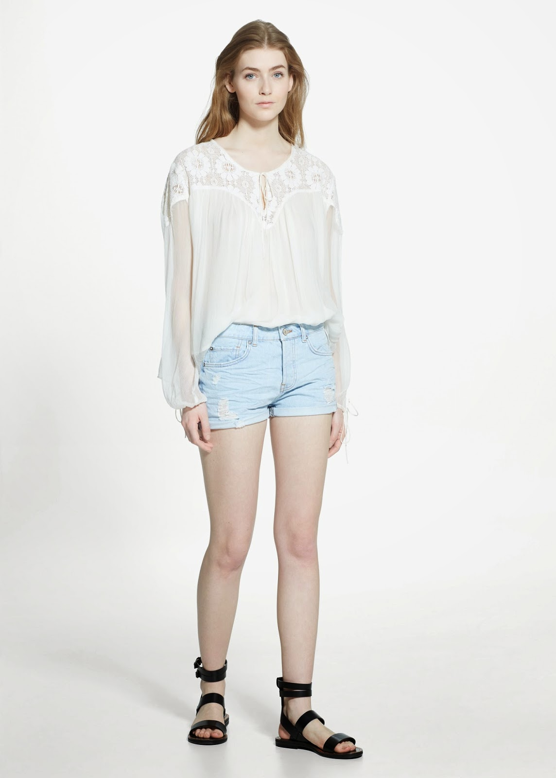 white peasant top, mango peasant top,