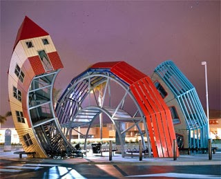 Bus Home by Dennis Oppenheim is a bus stop located at the Pacific View Mall in Ventura.