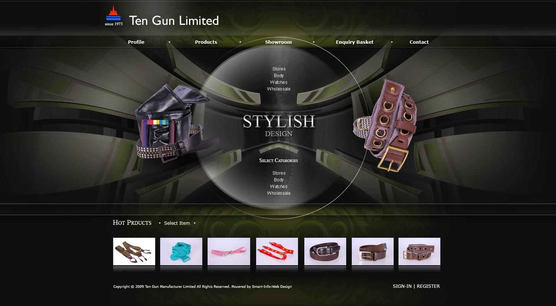 TG manufacturer website design demo