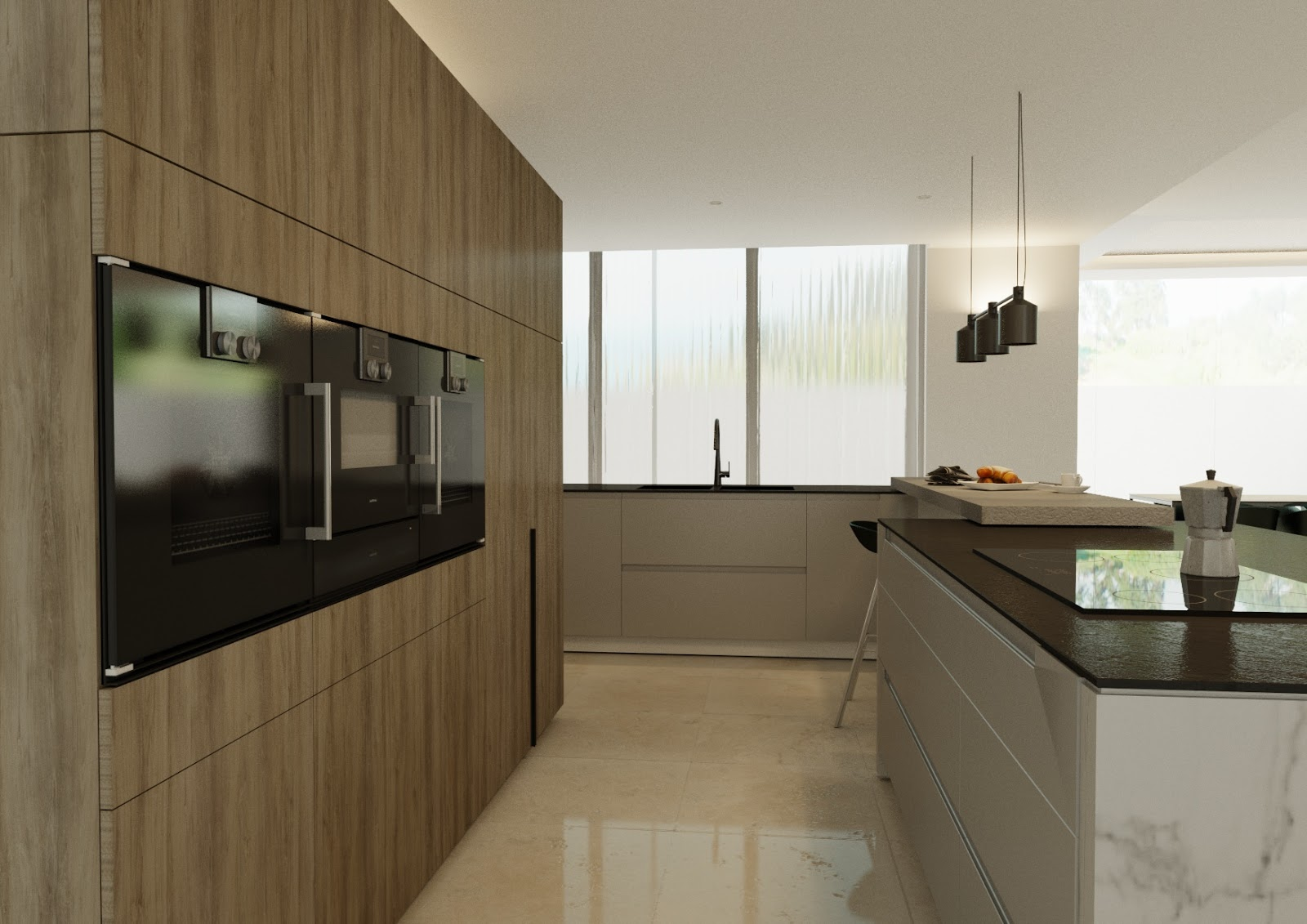 Active And Passive, This Is A Very Large Part Of The Modern Kitchen Design,  Having Areas That Are Passive Such As Access To Cups Which Are Directly  Located ...