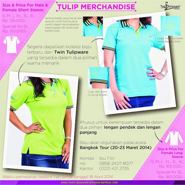 Kaos Tulipware Hijau Biru Muda & Hijau Muda Baru 2014