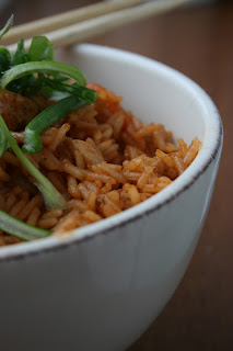 Słodko-kwaśny ryż z kurczakiem