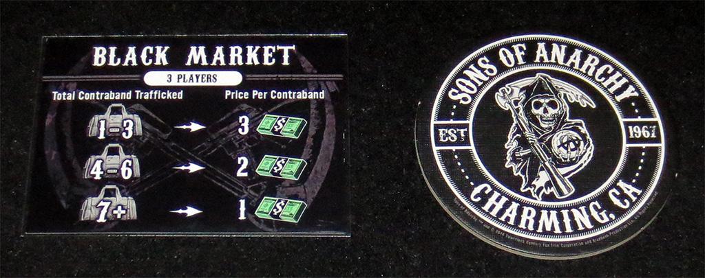 Carta de Mercado Negro y Parche de Jugador Inicial