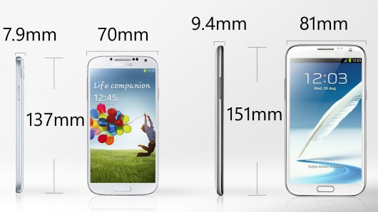 Galaxy S4 VS Note 2