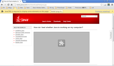 Google Chrome without Java or Java is disabled