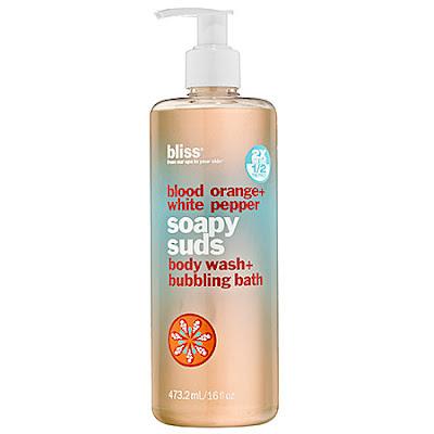 Bliss, Bliss body wash, Bliss shower gel, Bliss Blood Orange + White Pepper, Bliss Blood Orange + White Pepper Soapy Suds Body Wash + Bubbling Bath, body wash, shower gel