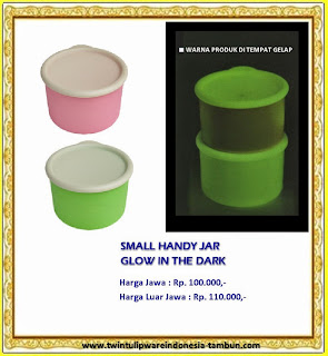 small handy jar glow in the dark - tulipware 2013