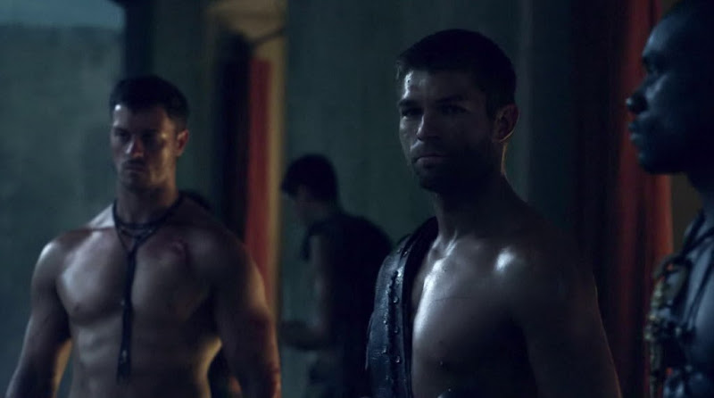 Daniel Feuerriegel Shirtless in Spartacus Vengeance s2e02