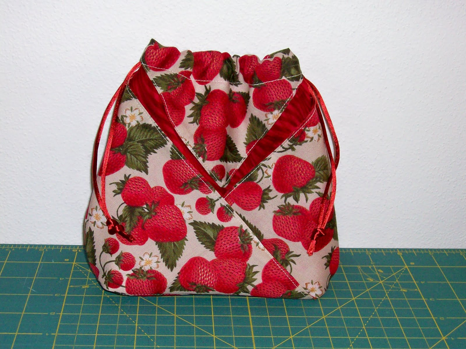 In Honor Of This Momentous Occasion I Pulled Some Strawberry Fabric From My Stash And Made Myself A Origami Bag