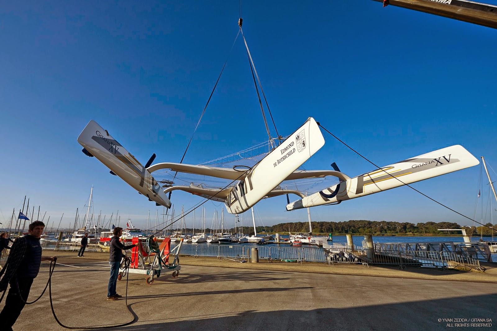Gitana XV remis à l'eau à Lorient, vers de nouveaux horizons ?