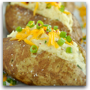 Twice Baked Cauliflower Baked Potatoes