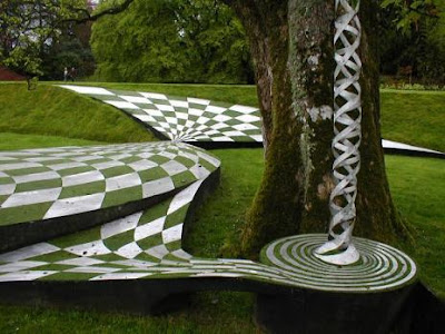 Amazing Scotland's Garden of Cosmic Speculation Seen On www.coolpicturegallery.us