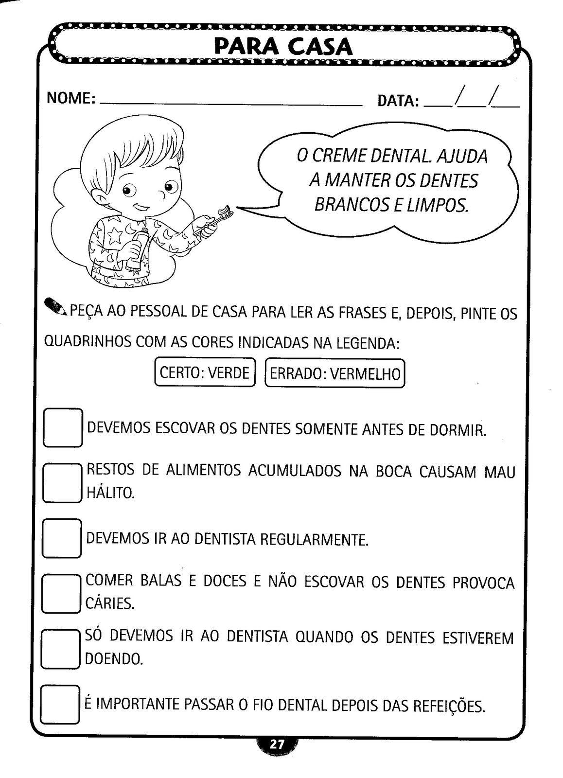 Conhecido TRABALHOS ESCOLARES-ENSINO FUNDAMENTAL: HIGIENE PESSOAL-EDUCAÇÃO  RP08