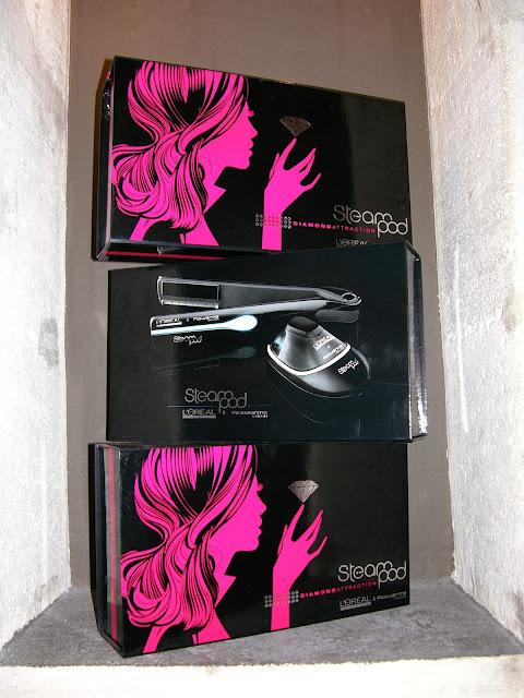 Présentation Steampod de L'Oréal, en version classique et en série limitée Diamond, dans leur emballage,   le tout neuf et garantie 1 an.