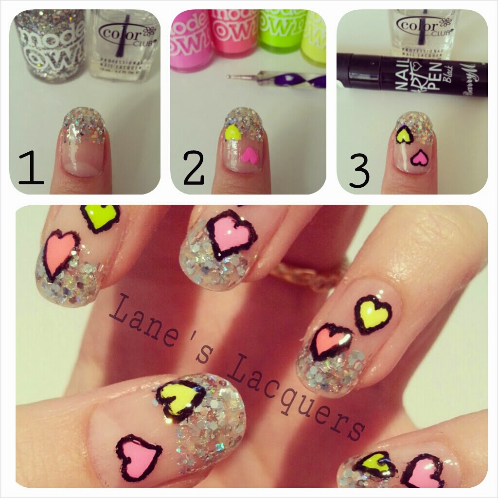 glitter-tips-neon-love-hearts-tutorial-pictorial