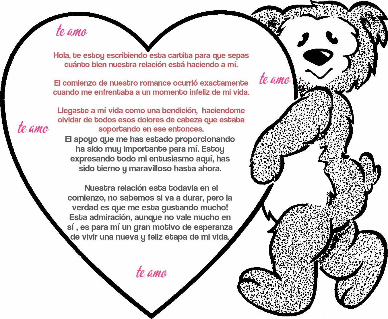 carta de amor romantica