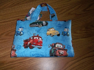 Lighting McQueen and Gang printed tote bag for kids