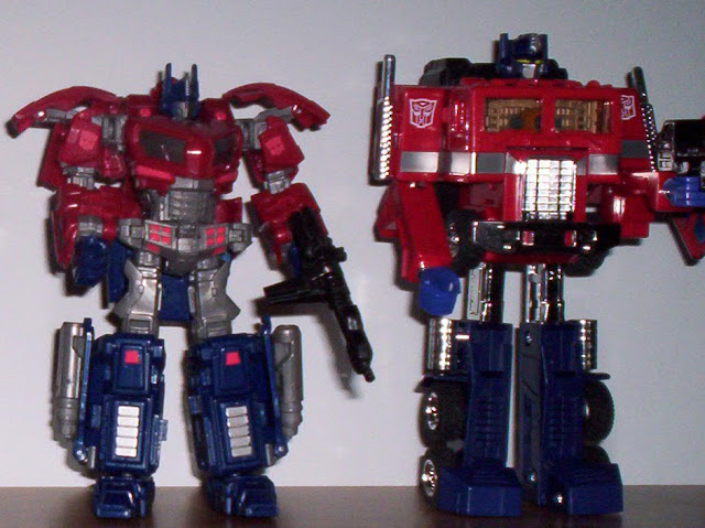 Optimus and Convoy