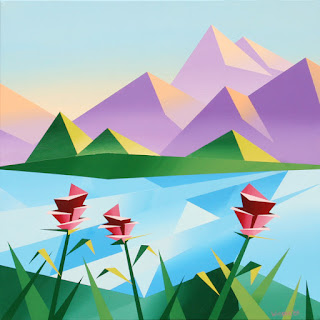 mark webster artist abstract mountain landscape