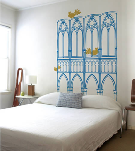Most creative headboards and bed frames frixa for Painted on headboard