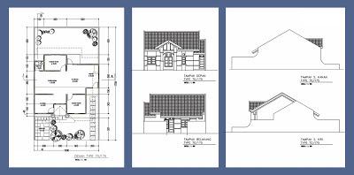 denah rumah type 70 175 desain denah rumah terbaru