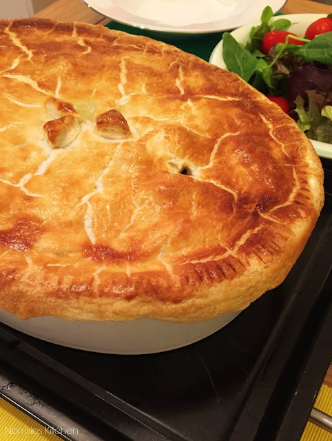 Nomsies Kitchen Recipe - Traditional Irish Guinness and Beef Stew Pie