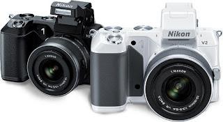 Nikon 1 V2 digital camera, Nikon Expeed processor, mirrorless camera