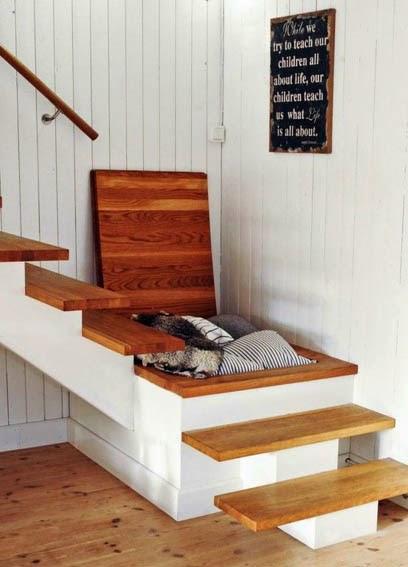 ahorrar espacio, hueco escalera