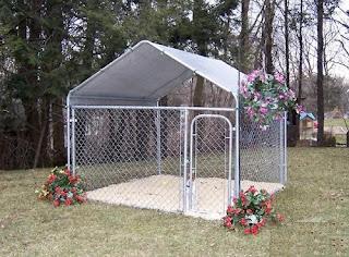 Portable garages indiana 7 5 x 13 x 6 dog kennel for sale for Carport dog kennels