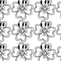 black white blossom pattern