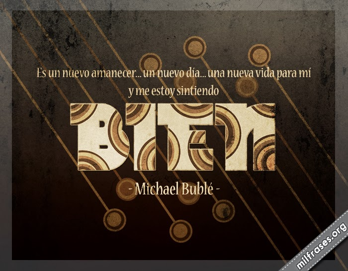 letras de música de Michael Steven Bublé traducidas español, cantante melódico y actor canadiense.