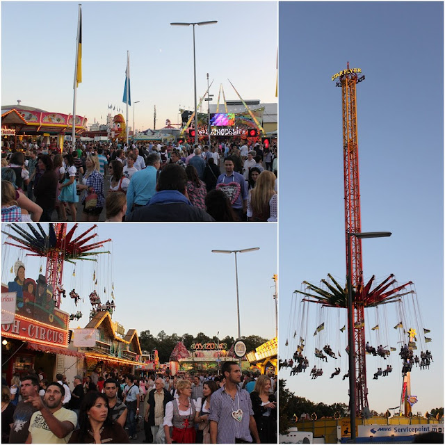 Many funfair rides can be found at Octoberfest festival at Munich, Germany