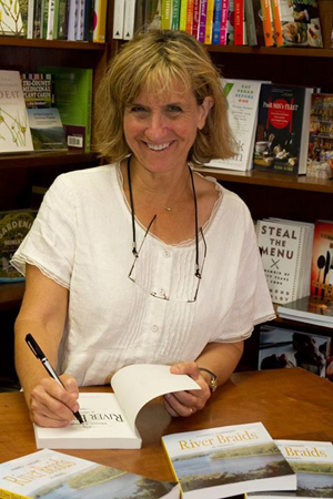 californian author Marcy Luikart, signing books