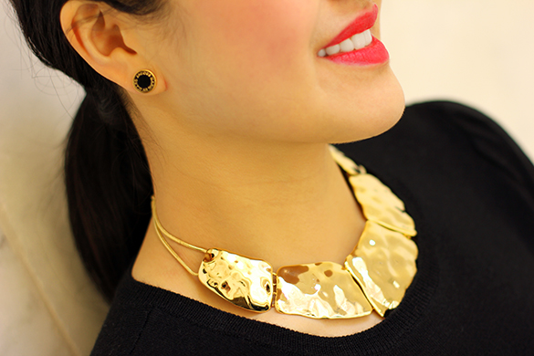 Mouche Gold Statement Necklace
