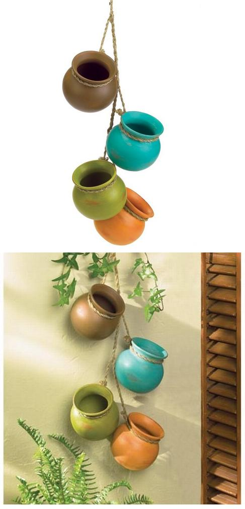 Beautiful Gifts & Decor Dangling Mini Ceramic Pot Set