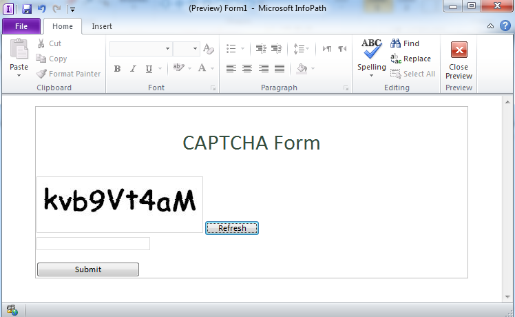 muawiayh shannak how to add captcha to infopath 2013 2010 and