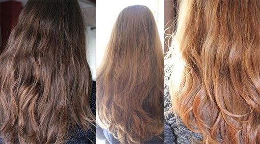 les photos ont t toutes les 3 prises dans la mme position la lumire du soleil et dans laprs midi jai essay de faire les choses bien p - Gele Claircissante Garnier Sur Cheveux Colors